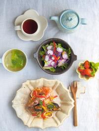 初パエリアの朝ごはん - 陶器通販・益子焼 雑貨手作り陶器のサイトショップ 木のねのブログ