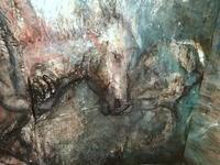 ギャラリーがフクシマの牧場に・・潤んだ瞳いのちの燃焼体感・山内若菜さん個展 - 明日への狼煙(のろし)