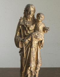 小さなキリストを抱える聖ホセの像  F260 - Glicinia 古道具店