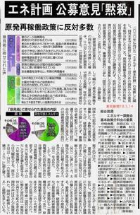 エネ計画公募意見「黙殺」/東京新聞 - 瀬戸の風