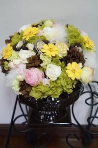 プリザーブドフラワー&ドライフラワーのコンポジション - お花に囲まれて