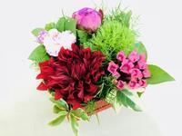 ボックスアレンジ③ - Flower Days ~yucco*のフラワーレッスン&プリザーブドフラワー~