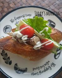 サバサンドの朝ごパン - 料理研究家ブログ行長万里  日本全国 美味しい話