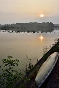 早朝水上池 - 東大寺が大好き