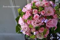 お祝いで贈る花束♪パステルピンク。 - 花色~あなたの好きなお花屋さんになりたい~