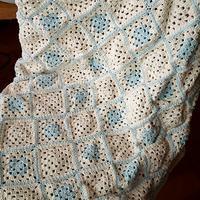 モチーフ編みのブランケット完成 - 毛糸に恋して