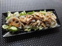 蓮根とまいたけのサラダ - 相生産業国賓味彩タレ&ソース時短料理レシピ集