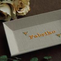 ミシン刺繍と新入荷の生地 - Fabrikoのカルトナージュ ~神戸のアトリエ~