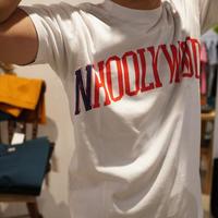 ロゴ T-シャツ -N'HOOLYWOOD- - 'One World   /God bless you