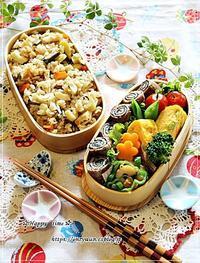 ハチクとわらびの炊き込みご飯弁当と今週の作りおき♪ - ☆Happy time☆