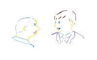 ビジネスマンたちの会話 - イラストレーション ノート