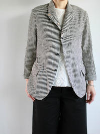 R&D.M.Co-LINEN HICKORY JACKET - 『Bumpkins putting on airs』