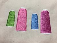 工業用糸の刺繍☆ - Atelier Chou