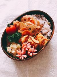 普通のお弁当とお花 - 日記帳