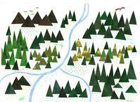 山並み イラスト - 手製本クリエイター&切絵コラージュ作家 yukai の暮らしを愉しむヒント