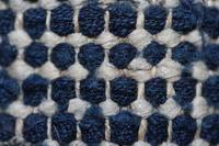 古布木綿紙縒り1裂き織野良着 Japanese Antique Textile Koyori-paper Sakiori Noragi - 京都から古布のご紹介