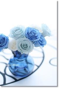 ブルーグラデーション* - Flower letters