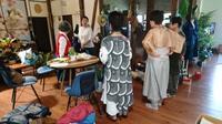 遊庵にて ちくちくの集い - 古布や麻の葉