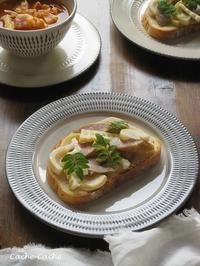 筍のタルティーヌと、野菜スープでランチ♪ - Cache-Cache+