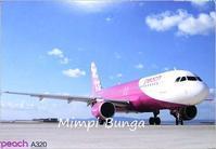 Peach Aviationのポストカード&風景印 - Mimpi Bunga の旅の思い出