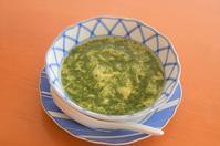 モロヘイヤと卵のスープ/らっきょうの塩漬け - まほろば日記