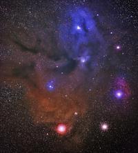 アンタレス付近の星雲群 - 安倍奥の星空