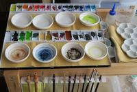 水彩固形絵の具をチューブに変更 - 風と雲