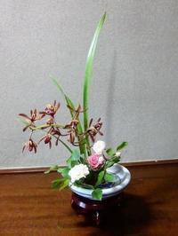 ヤブラン、アイビーの小品花と食の話。 - 活花生活(2)