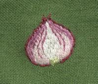 紫玉ねぎの刺繍をしました。 - vogelhaus note