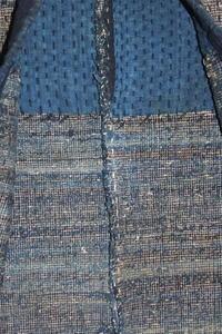 古布木綿紙縒り裂き織野良着Japanese Antique Textile Koyori Sakiori Noragi - 京都から古布のご紹介