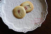 桜のラングドシャ―。 - 野の花薬草綴り帖