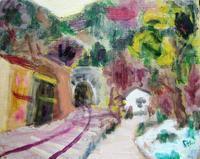 江ノ電沿線シリーズ「御霊神社からトンネルを見る」「七里ガ浜快晴」 - ギャラリーEtsu ブログ