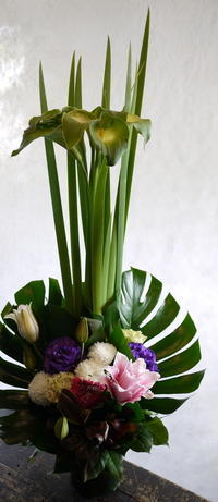 ご自宅での法要にアレンジメント。北20にお届け。2018/05/23。 - 札幌 花屋 meLL flowers