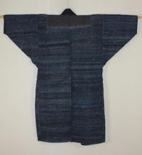 古布木綿裂き織紙縒り野良着Japanese Antique Textile Sakiori Koyori Noragi - 京都から古布のご紹介