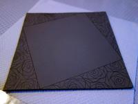 薔薇紋プレートと長皿★下絵の下絵 - 月夜飛行船