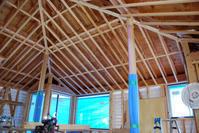天井下地完了/方形の平屋/岡山 - 建築事務所は日々考える