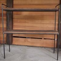 アイアン什器2段式アイアンラック古材使用。No101 - 手作り薪ストーブ kintoku直火工房。