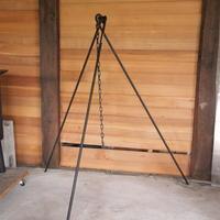 アイアン什器トライポットNo103 - 手作り薪ストーブ kintoku直火工房。