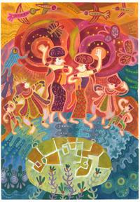 今年の阿佐ヶ谷バリ舞踊祭イメージ画 - 戦場の旗手
