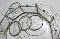 ペンダントライトを作成中です - ルームシューズを作るゥ。。ステンドグラスも作る。