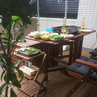 【アウトドアリビング】週末お庭ごはん / お庭のシンボルツリーに実ができた♡ - イロトリドリノ暮らし~シンプル×北欧モダン~