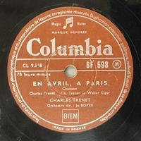シャルル・トレネの「4月のパリ」「白い船」 - シェルマン 蓄音機blog