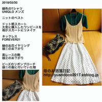 ニット編みのベスト - 母のお洒落日記