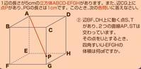 空間図形(立方体)の問題(2) - 得点を増やす方法を教えます。困ってる人の手助けします。1p500円より。