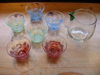 沖縄ガラスのぐい呑入荷 - MOTTAINAIクラフトあまた 京都たより