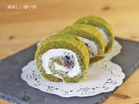 抹茶ロール&あんみつ風ゼリー 6月レッスン - 美味しい贈り物