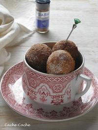 シナモン香る♪ 豆乳ドーナツ - Cache-Cache+