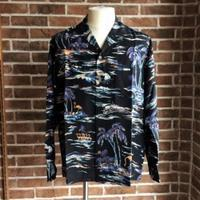 """ISLAND SEA"" L/S HAWAIIAN SHIRT/BLK - ISSEI's BLOG"