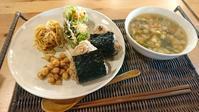 尚美さんのおにぎり、吉田山大茶会、スペイン料理祭 , Onigiri plate, tea market and spanish festival - latina diary blog