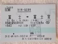 身延線全通90周年白糸号の急行券・指定席券 - Joh3の気まぐれ鉄道日記